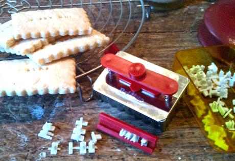 emporte pièce biscuits tampon