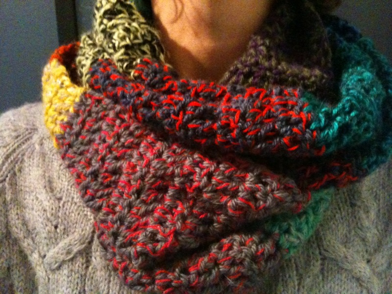 Tambouille echarpe chin e au crochet - Grosse echarpe en laine ...