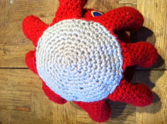 pieuvre au crochet - détail