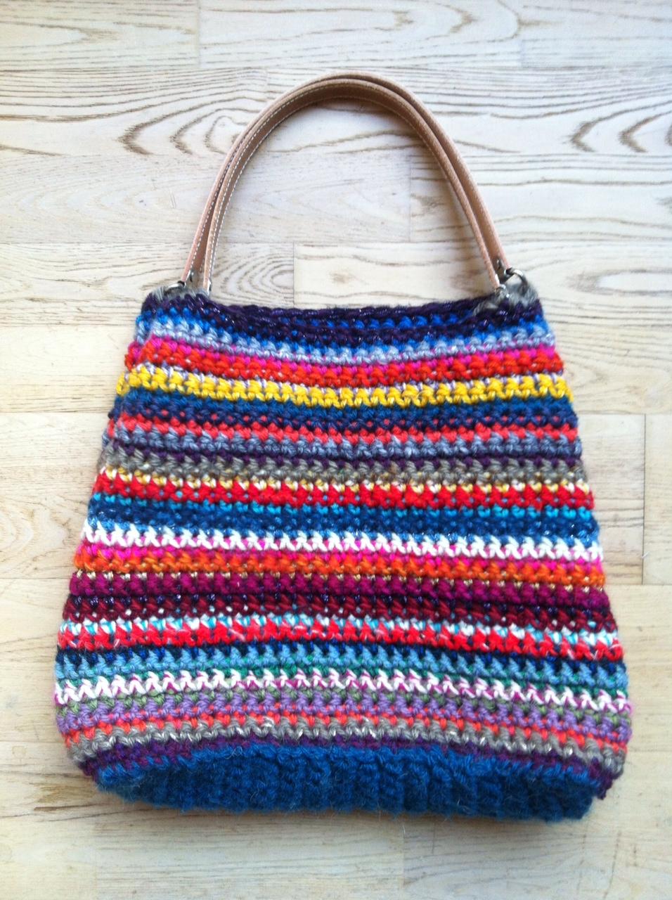 Tambouille sac - Tuto sac tricot en tissu ...